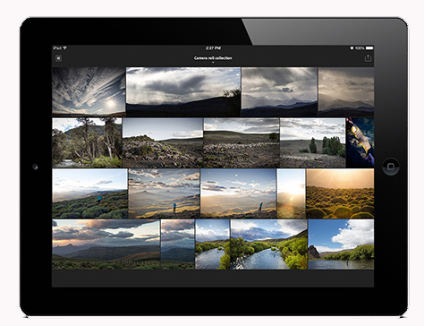 lr mobile ipad camera roll 700x400 Adobe launches Lightroom Mobile for iPad, but you must be a Creative Cloud subscriber to use it