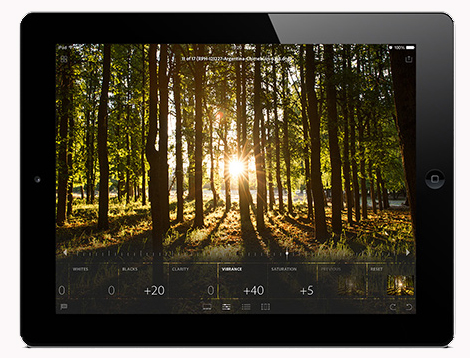 lr mobile ipad edit snapshots to raw 700x4001 Adobe launches Lightroom Mobile for iPad, but you must be a Creative Cloud subscriber to use it