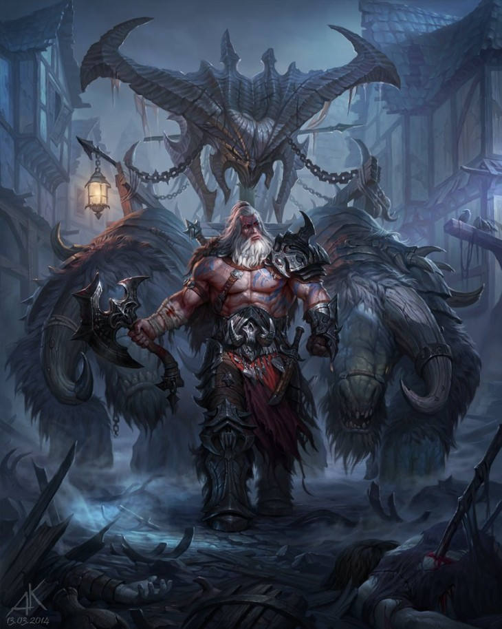 new evil by kuzinskiy d79zwbr 730x914 Fan artists conceptualize Diablo IIIs Angel of Death for prizes and cash