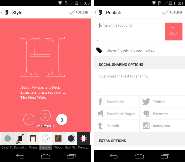 notegraphy Notegraphy, an Instagram style app for beautiful typography, arrives on Android