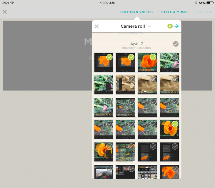 photo 5 copy 730x639 Hands on with Animoto Video Maker app for iPad