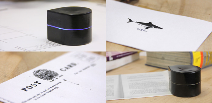 robot printer3 This mini robot is actually a portable printer, and it could be yours for $180