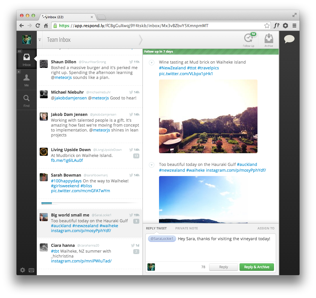 screenshot Favstar founder launches Respondly to help companies use Twitter as a service desk