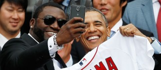 Obama Welcomes World Series Champions Boston Red Sox To The White House