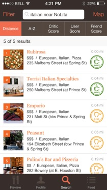 tastesavant 1 Taste Savant releases an iPhone app for its curated restaurant review aggregator