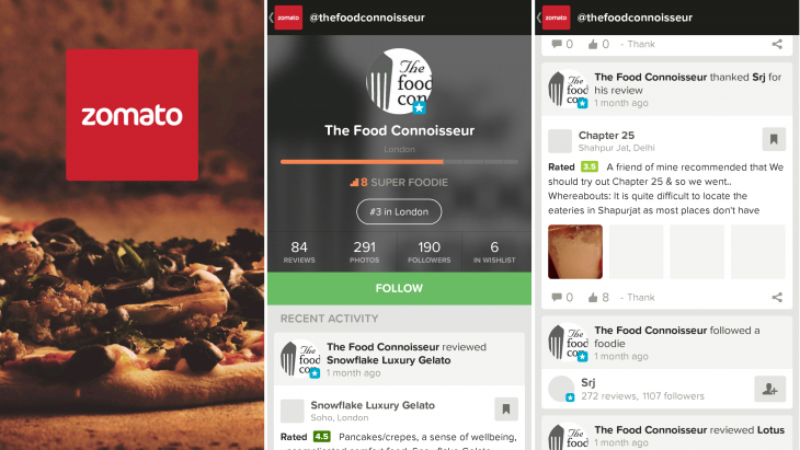 zomato 2 730x411 Restaurant finder app Zomato fully revamped with new social skills and FoodFeed