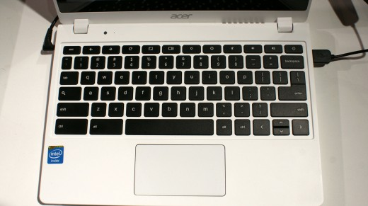 0506 acer2 520x291 Hands on: Acers speedy Core i3 C720 Chromebook