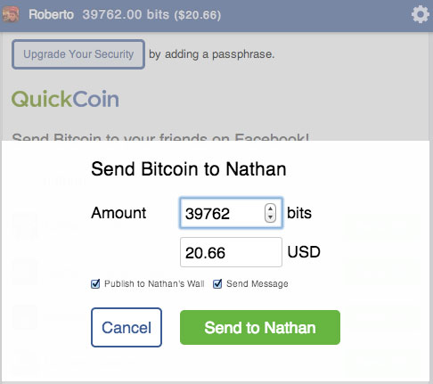 how to send bitcoin to another wallet