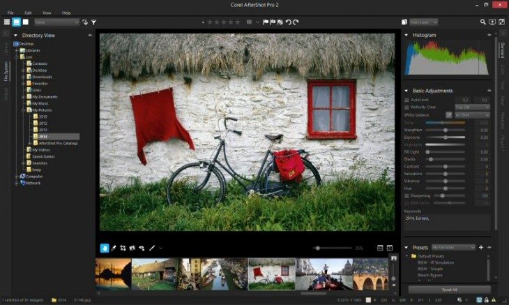 20140520 947068b bg 730x437 Corel launches AfterShot Pro 2, an update to its multi platform photo management app