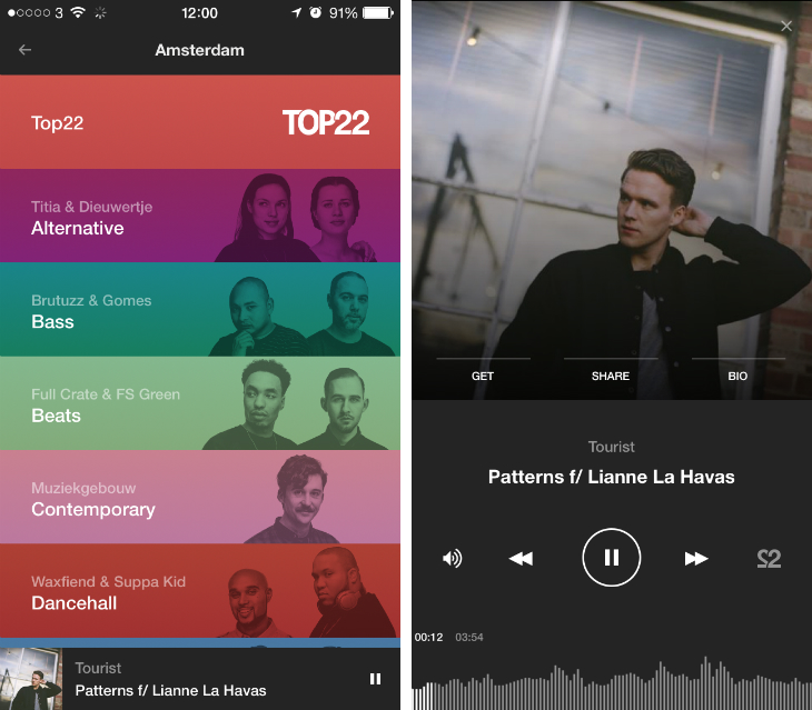 22tracks 22tracks redesigns its curated playlist and music discovery app for iOS