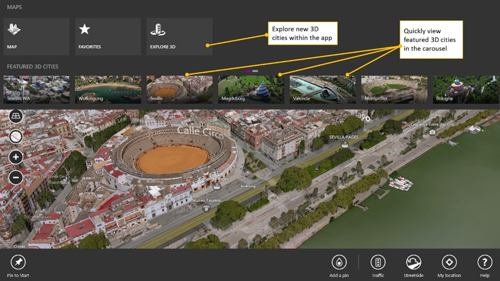 5 0F56BA71 Bing Maps for Windows 8 gets personalized recommendations, Yelp and TripAdvisor, roaming favorites, and more