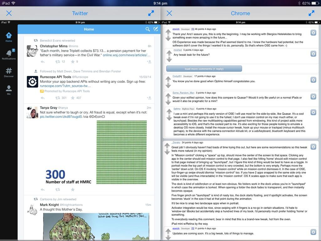 BnWA8duCEAE72jw Amazing Jailbreak tweak brings true multitasking support to the iPad