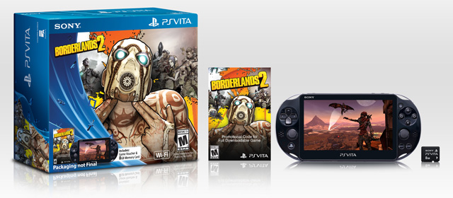 Borderlands2 PlayStation Vita Slim on sale in the US from today via $200 Borderlands 2 special edition bundle