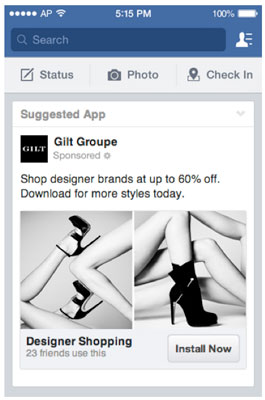 FB screenshot GiltGroupe Ad 10 mobile marketing statistics to help justify your budget