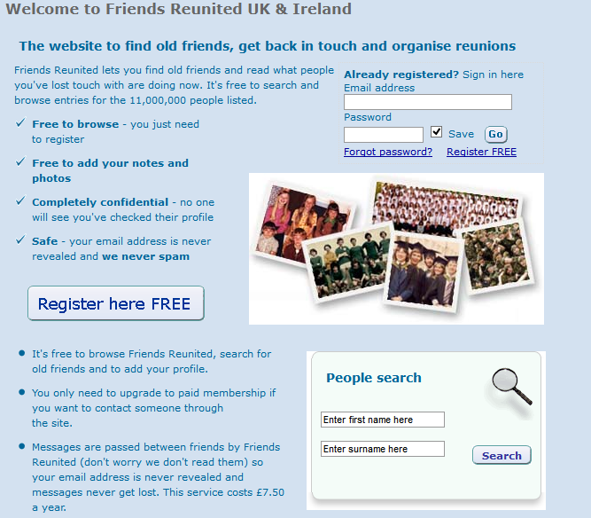 FireShot Screen Capture 163 Friends Reunited  find and contact old friends trace family history find a UK date web archive org web 20050324031419 friendsreunited co uk Friends Reunited...reunited: Britains Facebook precursor is back with the original founders