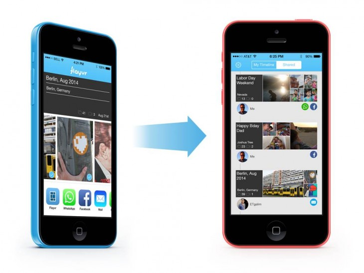 Flayvr2 730x547 Smart photo organizer Flayvr for iOS gets a shared timeline and more social features