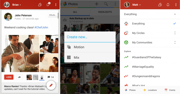 Google Plus update2 730x381 Google+ for Android revamped with new Auto Awesome features, photo tweaks and a refreshed UI