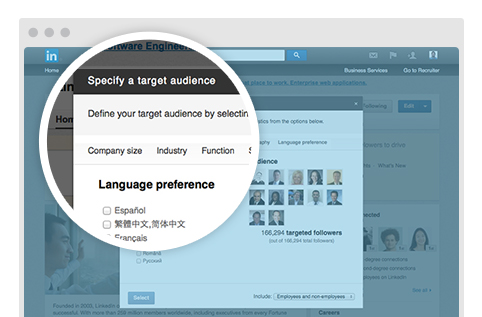 LanguageTargeting 482x LinkedIn launches language preference targeting and personalized page feeds to help brands reach more users