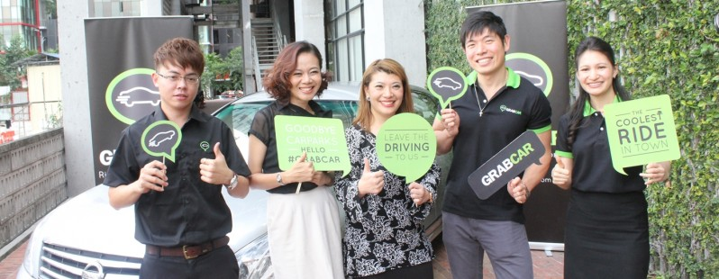 (Left to Right) GrabCar Driver, Low Ngai Yuen (President, Kakiseni), Freda Liu (Producer & Presenter, BFM 89.9), Anthony Tan (Founder & Group CEO, MyTeksi), Nina Teng (General Manager, Grabcar)