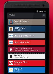 LifeLock Wallet 220x308 LifeLock Wallet pulled from app stores and all user data deleted amid security concerns [Update]