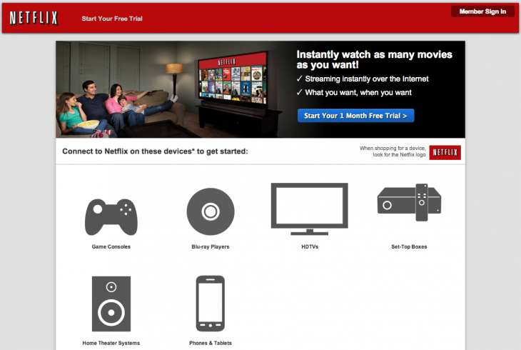 Netflix Landing Page 730x490 Improve first impressions with optimized landing pages