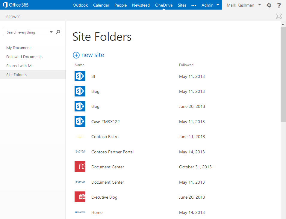 OBUI 03 Microsoft updates OneDrive for Business with new design, Simple Controls, Site Folders, and smarter search