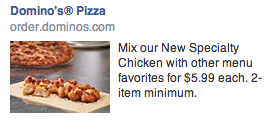 Pizza Hut FB Ad Improve first impressions with optimized landing pages