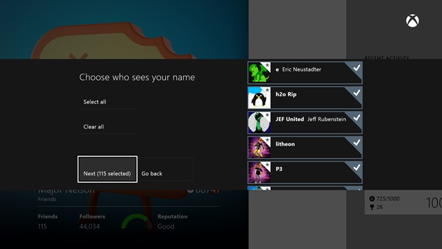 RealNames2 1 Xbox One to get external drive support, real names and new SmartGlass features in June update