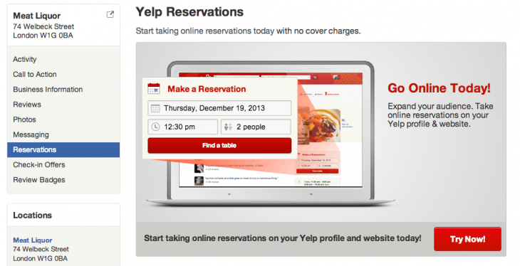 Screen Shot 1 730x374 Yelp launches new version of SeatMe that lets nightlife businesses accept online bookings for free