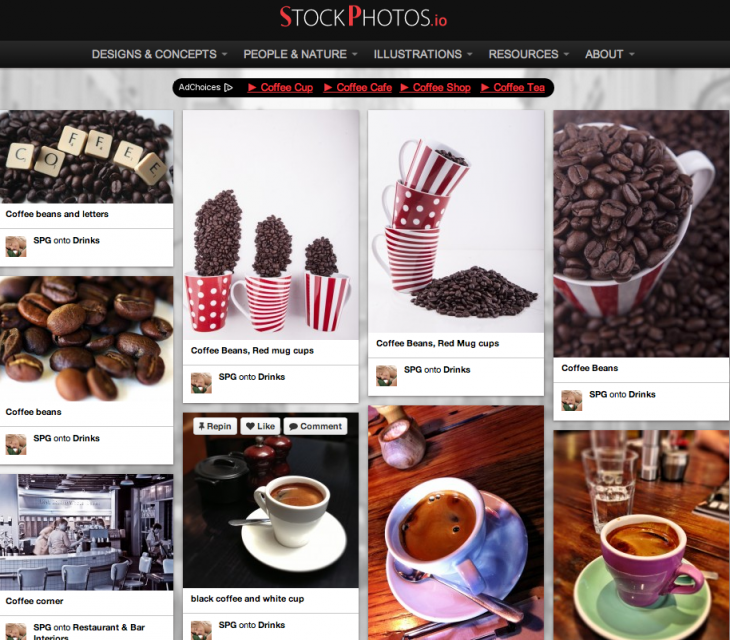 Screen Shot 2014 05 13 at 11.10.09 PM 730x640 The best free stock image resources on the Web