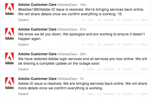Screen Shot 2014 05 15 at 6.38.42 PM 520x339 Adobe restores Creative Cloud services after extended outage [Update]