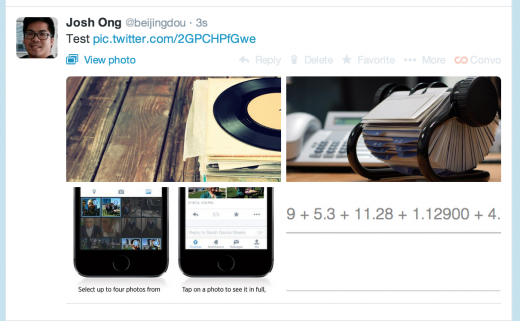 Screen Shot 2014 05 20 at 11.30.52 AM 520x321 Twitter begins rolling out photo collages on Android and the Web