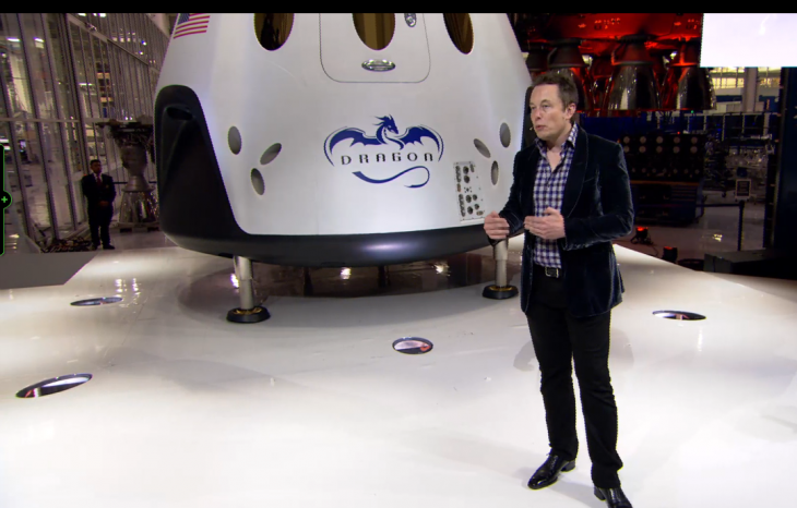 Screen Shot 2014 05 30 at 11.27.28 am 730x466 SpaceX unveils a fully reusable spacecraft that can carry 7 astronauts and land anywhere on Earth