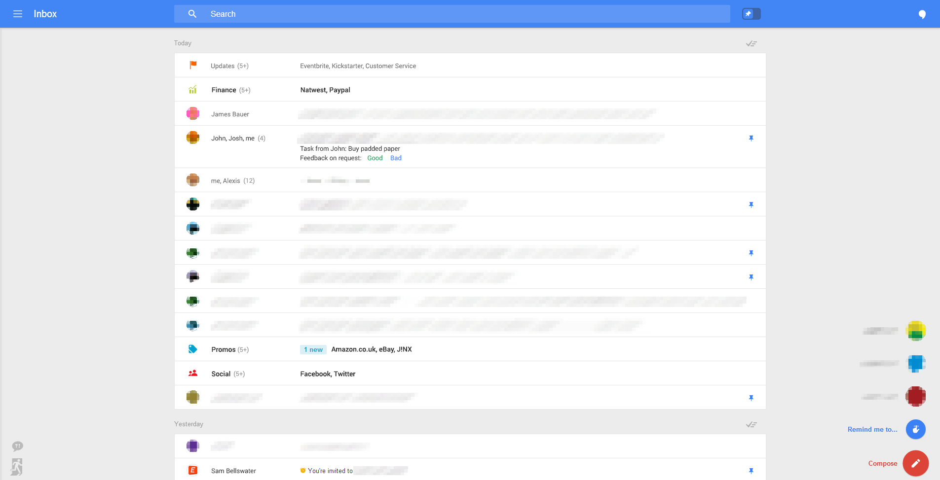 Screen3 Google appears to be testing a stunning Gmail overhaul that puts the focus solely on email