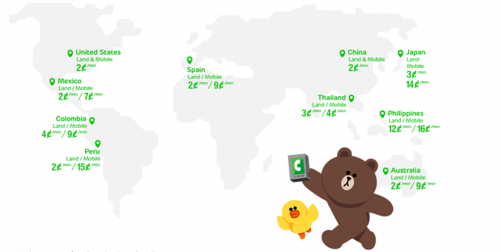 Screenshot 2014 05 01 17.26.17 730x368 Line brings its cheap calling service to iOS users in 10 countries, including the US