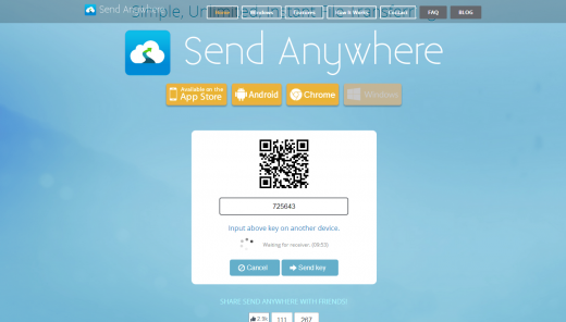Screenshot 2014 05 12 17.04.16 520x296 Meet Send Anywhere, the spiritual lovechild of Dropbox and Snapchat