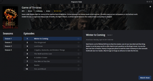 Screenshot 2014 05 14 09.40.201 520x276 Popcorn Time now streams TV shows and is available on Android