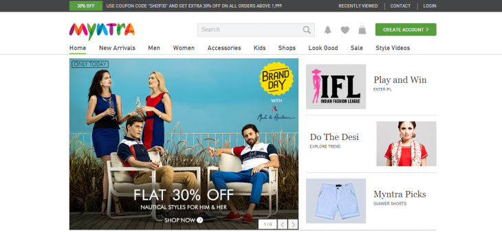 Screenshot 2014 05 22 15.56.48 730x338 Indias Flipkart acquires smaller e commerce rival Myntra to combat threat of Amazon and eBay