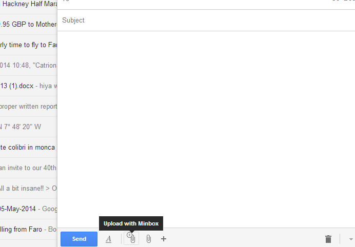 Screenshot 2014 05 29 16.52.25 Minboxs new Chrome extension lets you send large Gmail attachments without waiting