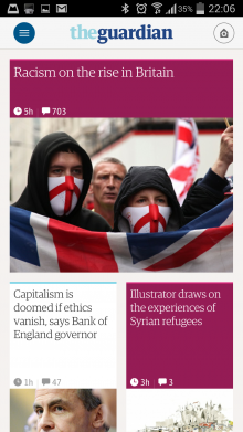 Screenshot 2014 05 27 22 06 24 220x391 The Guardian gets personal with slick, redesigned adaptive mobile apps