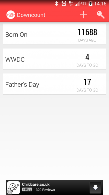 Screenshot 2014 05 29 14 16 37 220x391 Downcount for Android is a simple way to count down to any event