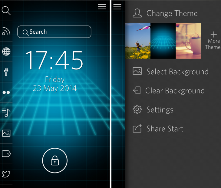 Start options2 730x620 Start for Android is a versatile lock screen replacement with more than just looks