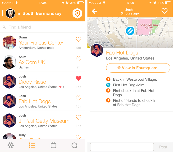 Swarmbside2 Back to basics: Swarm redefines the Foursquare check in to help you meet nearby friends
