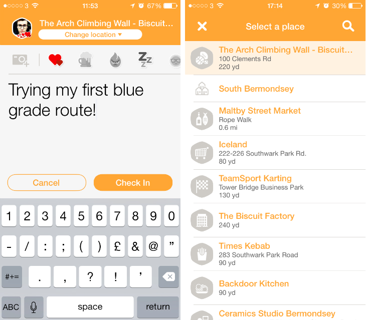 Swarmbside3 Back to basics: Swarm redefines the Foursquare check in to help you meet nearby friends