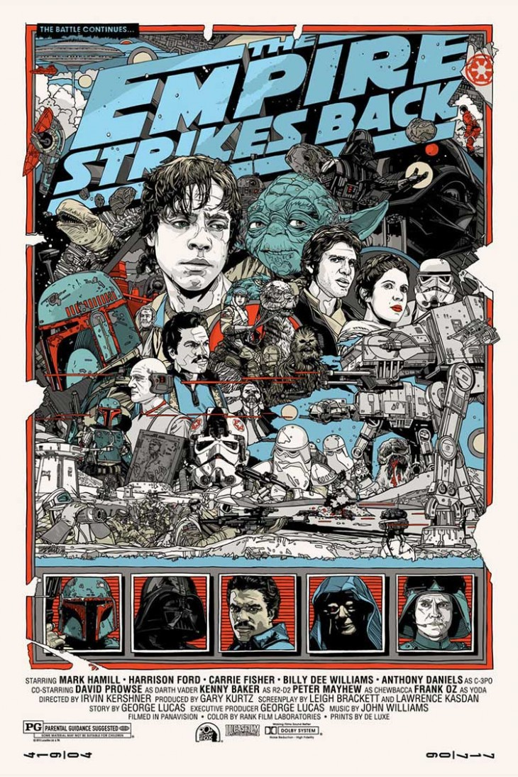 TylerStout TheEmpireStrikesBack 730x1094 10 Mondo movie posters that rival the original artwork