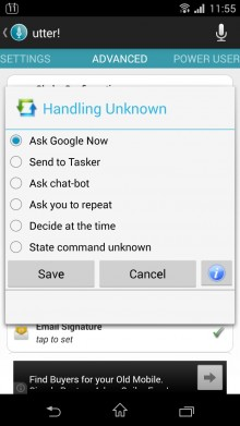 Utter Handling Unknown Command Settings 220x391 How to master voice control on Android: Going beyond Google Now