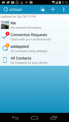 addappt 220x391 Addappt brings its dynamic address book to Android and revamps the iOS version