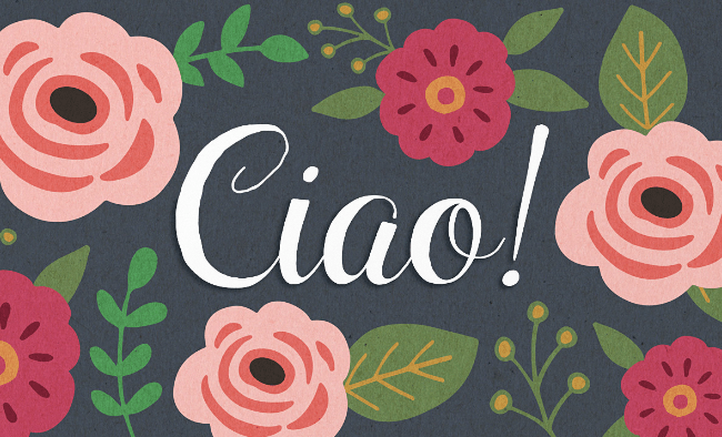 ciao bella The best typefaces from April 2014