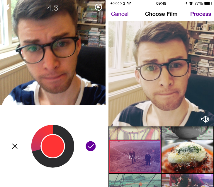cinamatic Hipstamatic takes on Vine with Cinamatic, a new iOS app for shooting square format videos
