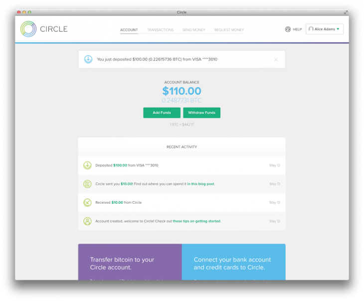 Circle Launches Its Bitcoin-Based Banking Platform